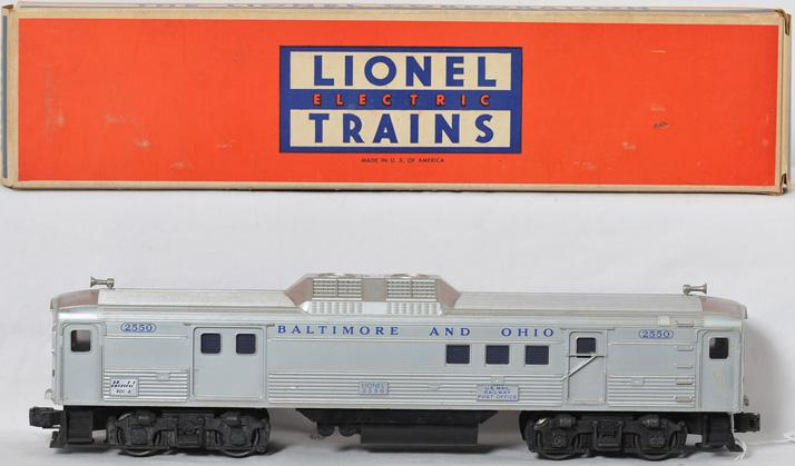 Lionel 2550 Baltimore and Ohio BUDD RDC car in nice OB