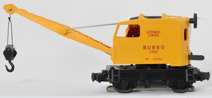 Lionel 3360 operating Burro crane