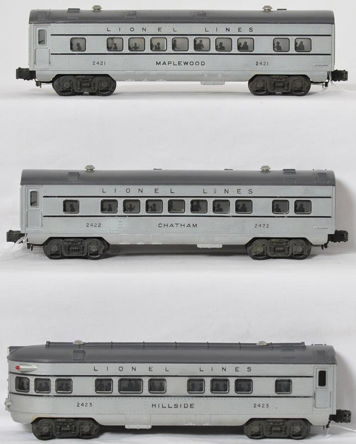 Lionel passenger cars 2421, 2422 and 2423
