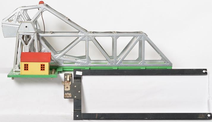 Lionel postwar 313 bascule bridge with frame