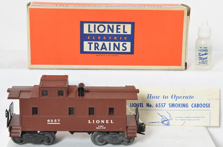 Mint Lionel 6557 smoking caboose, great OB