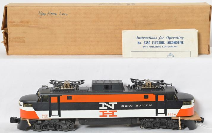 Nice Lionel 2350 New Haven electric with painted nose and OB