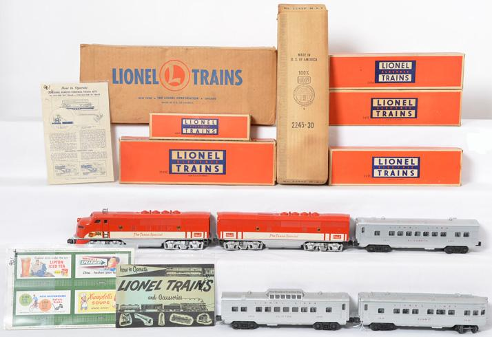 Lionel boxed Texas Special 2245 F3 passenger set 1520, set box
