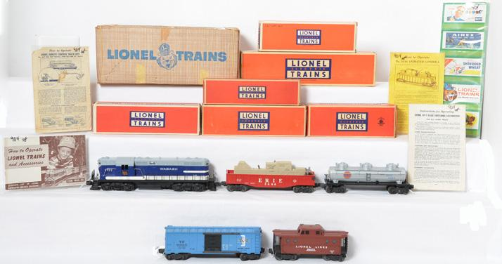 Lionel boxed set 2275W, 2339 Wabash GP freight set