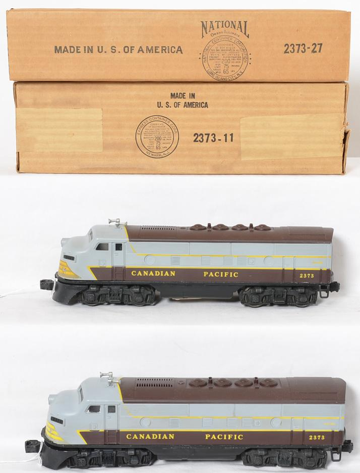 High grade Lionel 2373 Canadian Pacific F3 AA units in original boxes