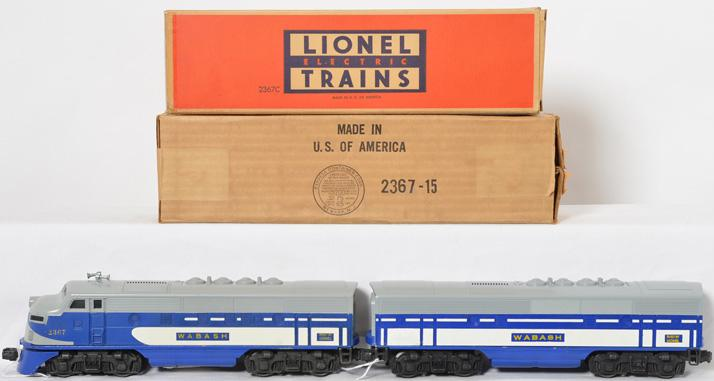 Lionel 2367 Wabash F3 AB units in original boxes
