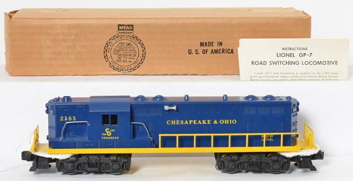 Lionel Postwar O gauge 2365 C&O GP7 Diesel Locomotive with Original box