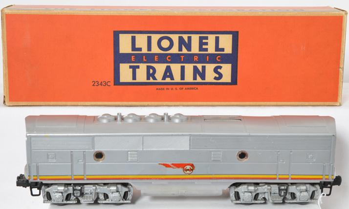 Lionel Postwar O gauge 2343C Santa Fe B unit with Original Box