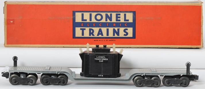 Lionel Postwar O gauge 6518 Transformer car with Original Box
