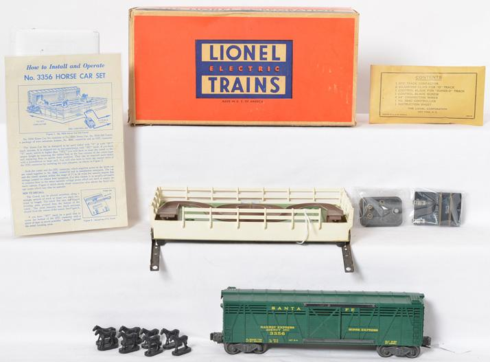 Lionel Postwar O gauge 3356 Horse Car and Corral in Original Box