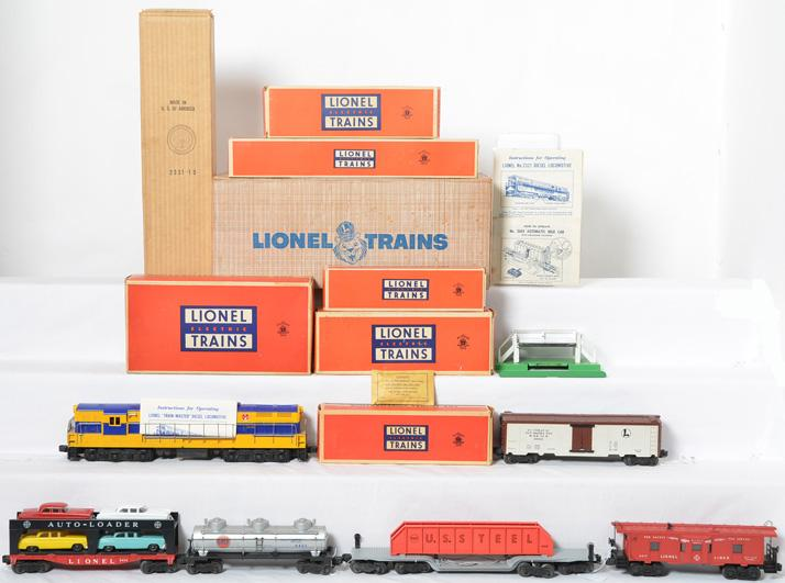 Lionel Postwar O gauge 2285W Virginian 2331 FM Set with Original Boxes and Set Box