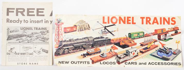 Lionel 736 Berkshire dealer window banner and ad mat