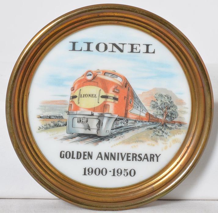 Lionel Golden Anniversary coaster 1900-1950