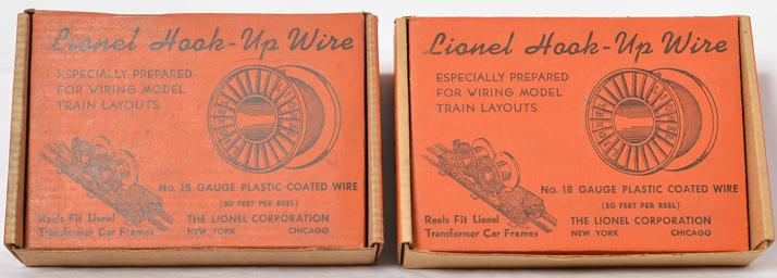 Lionel no. 40 cable reel dealer boxes and reels
