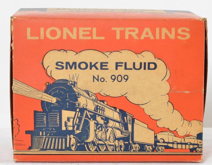 Rare Lionel 909 master carton of smoke fluid