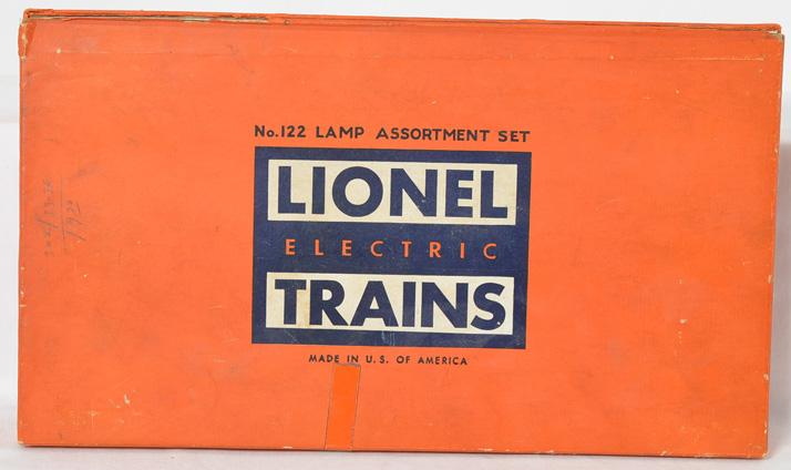Lionel 122 lamp assortment with bulbs