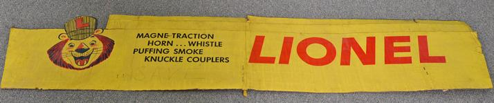 Back section of a late 1950''s Lionel accessory dealer display