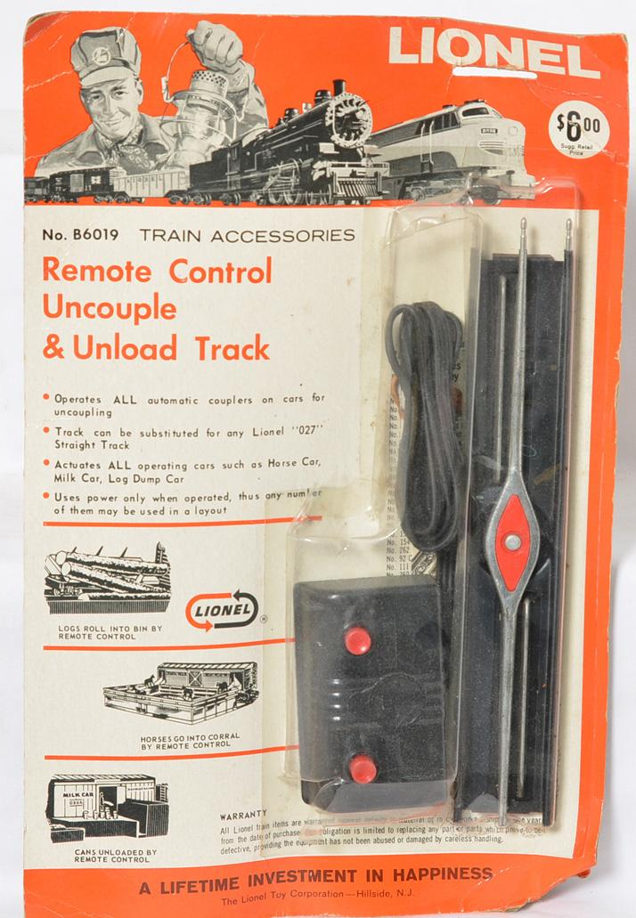 Lionel B6019, remote control track blister pack