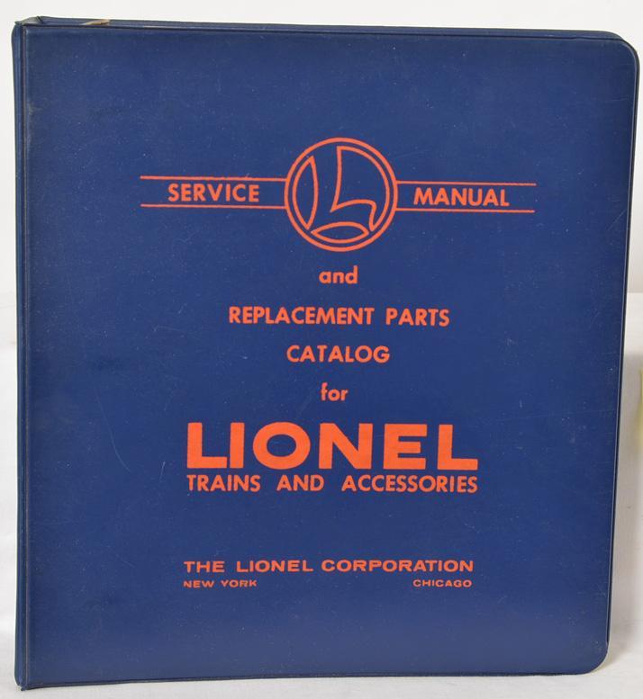 Lionel postwar dealer service manual binder with original pages
