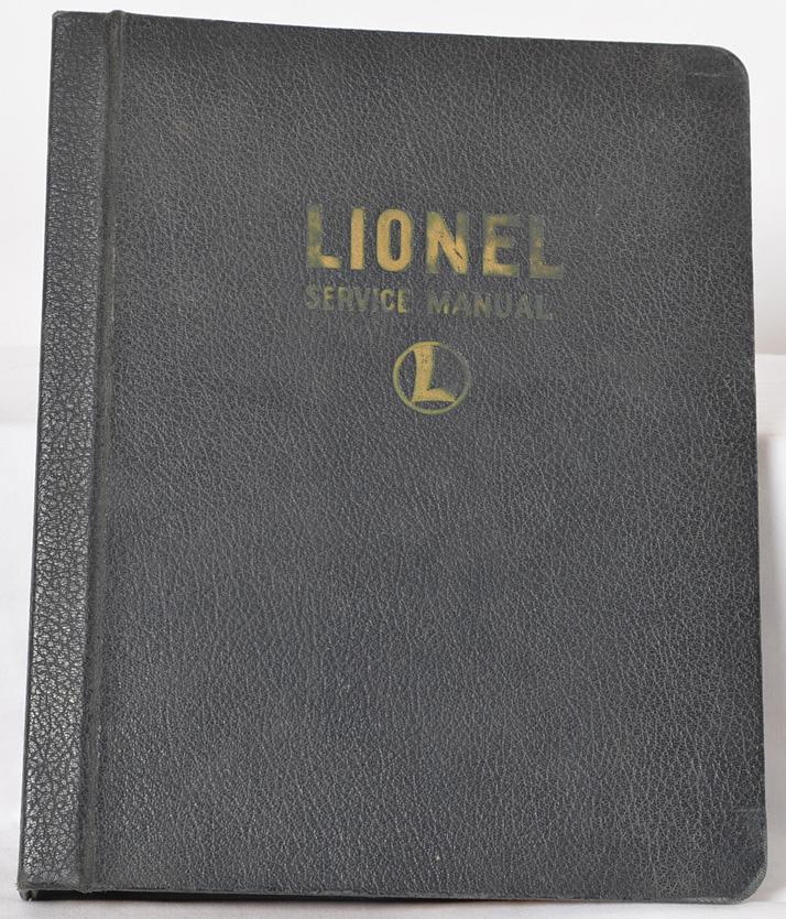 Lionel prewar 1939 dealer service manual binder with original pages