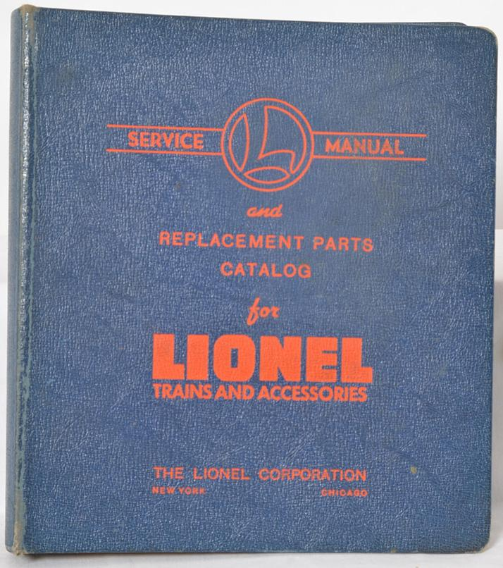 Lionel postwar HO and accessory service manual binder with original pages