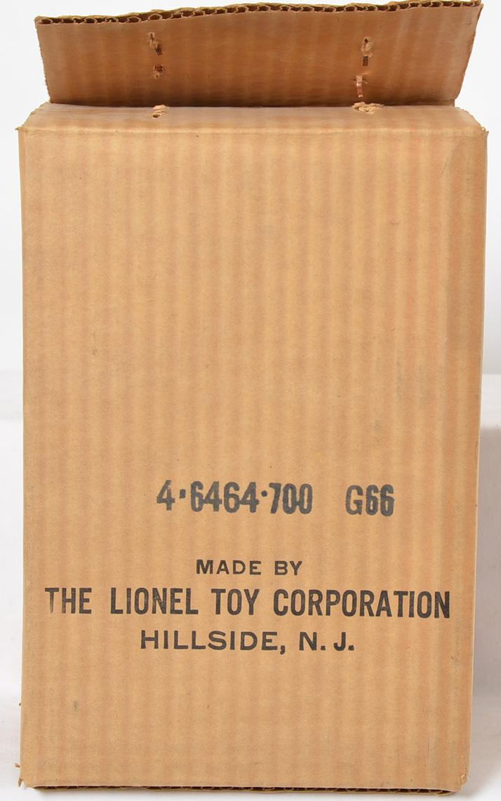 Lionel Postwar Lionel 6464-700 Santa Fe boxcar master carton addressed to Madison Hardware