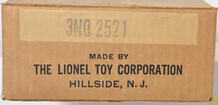 Sealed carton of 3 Lionel No. 2521 Presidential cars