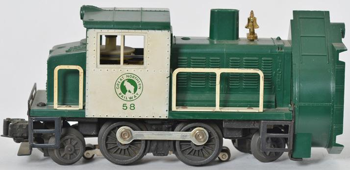 Lionel 58 Great Northern rotary snow plow with good window struts