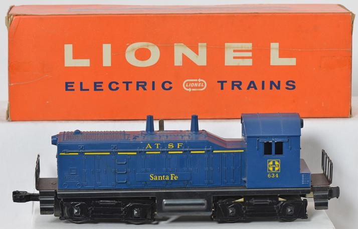 Lionel 634 Santa Fe NW2 Switcher Boxed with Hillside window box