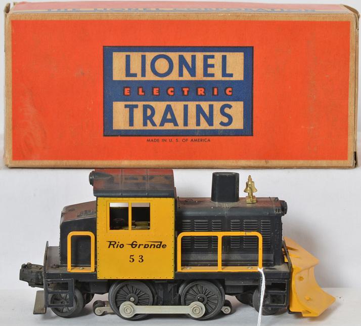 Lionel 53 Rio Grande snow plow with good struts and original box