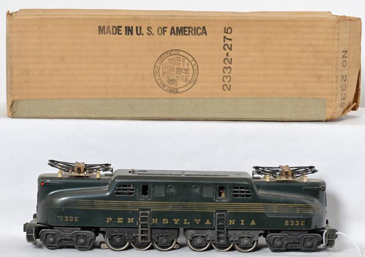 Lionel 2332 Brunswick five stripe Pennsylvania GG-1 in original box