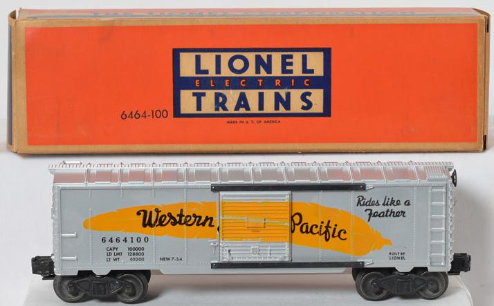 Lionel 6464-100 Western Pacific boxcar in original box
