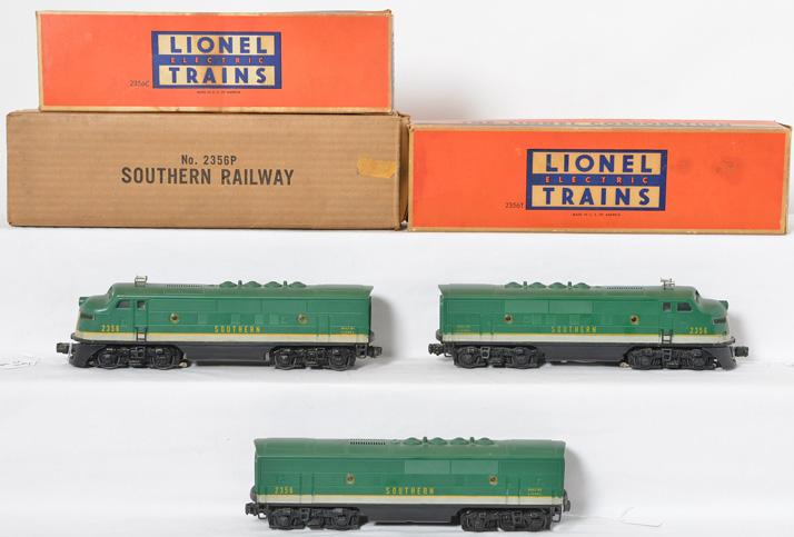 Lionel Postwar 2356 Southern F3 ABA with original boxes