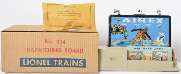 Unused Lionel 334 dispatch board with box
