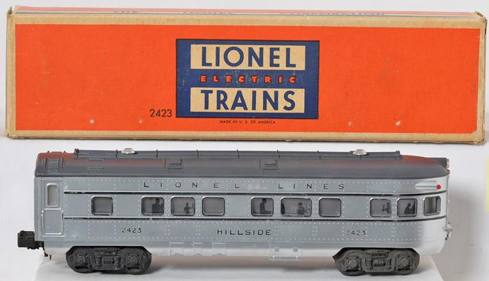 Lionel 2423 Hillside observation unrun with outstanding silver paint