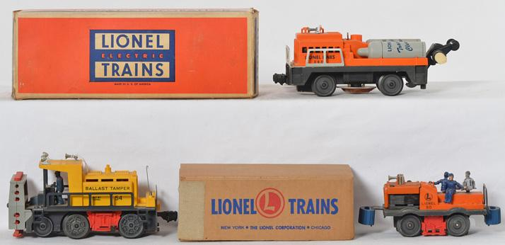Lionel 3927, 50, 54 motorized units with two original boxes