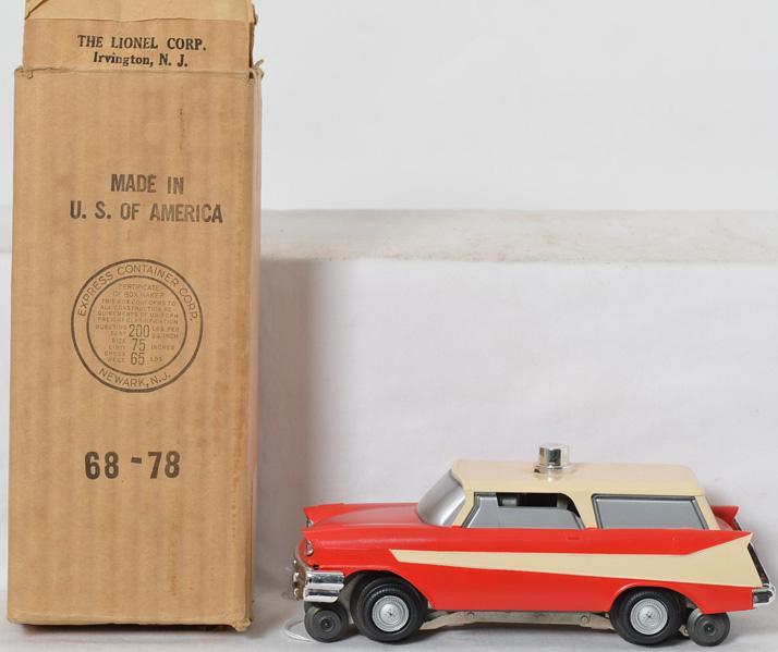 Lionel No. 68 executive inspection car in original box