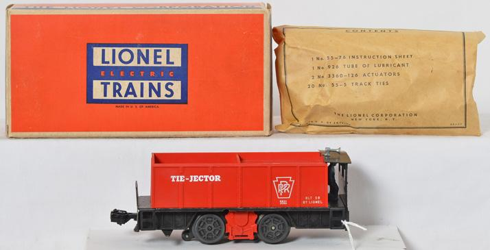 Lionel 55 Pennsylvania Tie Jector in original box