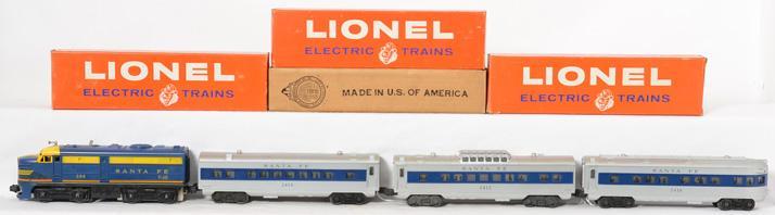 Lionel Santa Fe 204P Alco 2412, 2414, and 2416 passenger cars