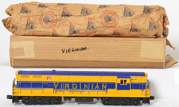 Lionel 2331 blue mold Virginian FM Trainmaster with original box.