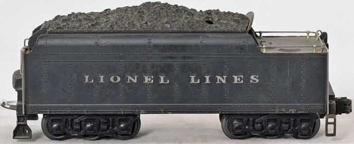 Unusual double stamped Lionel 2426W tender