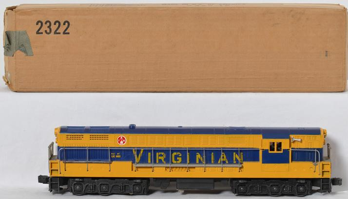 Lionel 2322 Virginian FM Trainmaster clean with no screw cracks