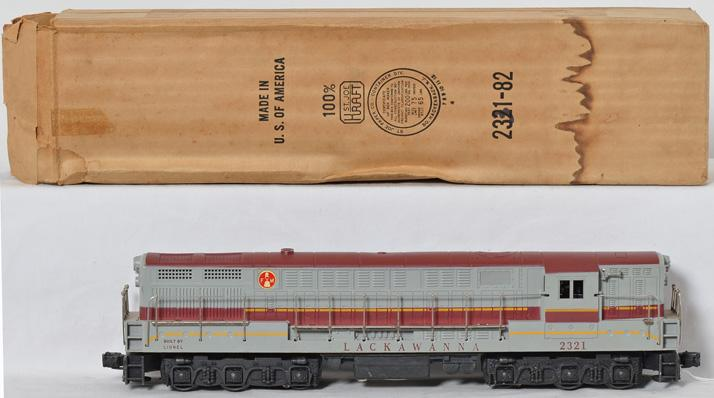 Lionel 2321 Lackawanna maroon painted top in original box