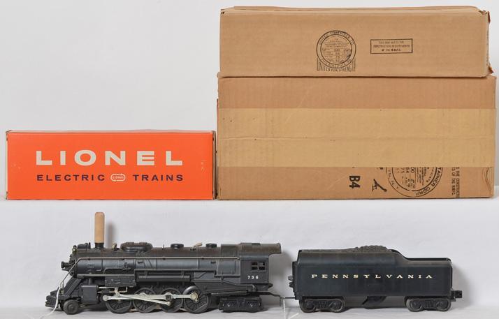 Lionel 736LTS Berkshire steam locomotive in master carton, inner boxes