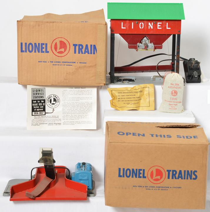 Lionel 397 and 497 coal accessories with original boxes