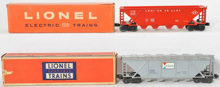 Lionel hoppers including 6436-100 Lehigh Valley and 6346 Alcoa