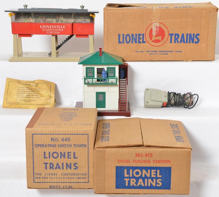 3 Lionel boxed accessories 445, 415, 465