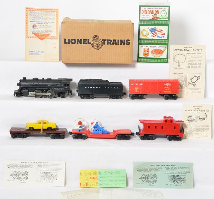 Lionel 19142-100 boxed Van Camps set