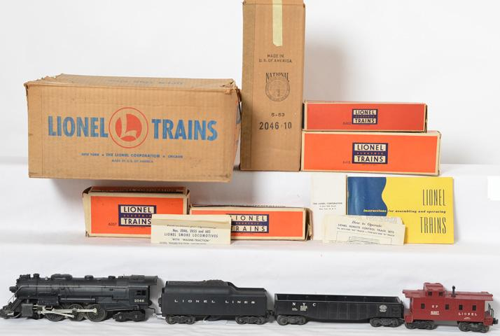 Lionel 1505WS partial freight set with 2046, 6462