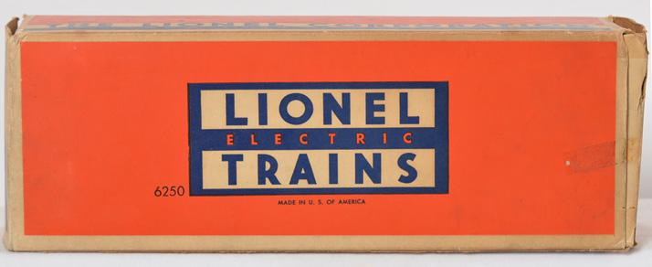 Lionel Postwar O gauge 6250 Seaboard Switcher Empty Original box